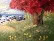 """Red tree /ocean 7""""x9"""""""