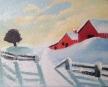 """Snow Field 4""""x5"""""""
