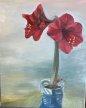 """Amaryllis 30"""" x 24"""" Oil on canvas"""